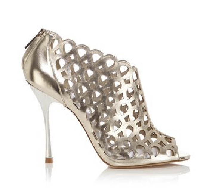 KAREN MILLEN New Women's Women's Women's Metallic Laser Cut Ankle Boot gold Size  38 ff269d