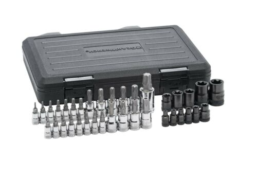 Gearwrench 36pc Master Torx E-Torx /& Tamper Proof Star Bit Socket Set #80728