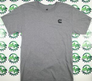 dodge-cummins-gray-short-sleeve-t-shirt-trucker-diesel-gear-tee-cumming-volvo-kw