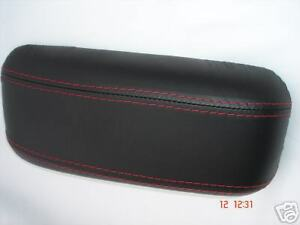 FITS ROVER 400 45  ARMREST COVER  BLACK REAL LEATHER NEW