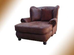 big sessel hawana kolonialstil braun polsterung megesessel arbeitszimmer ebay. Black Bedroom Furniture Sets. Home Design Ideas
