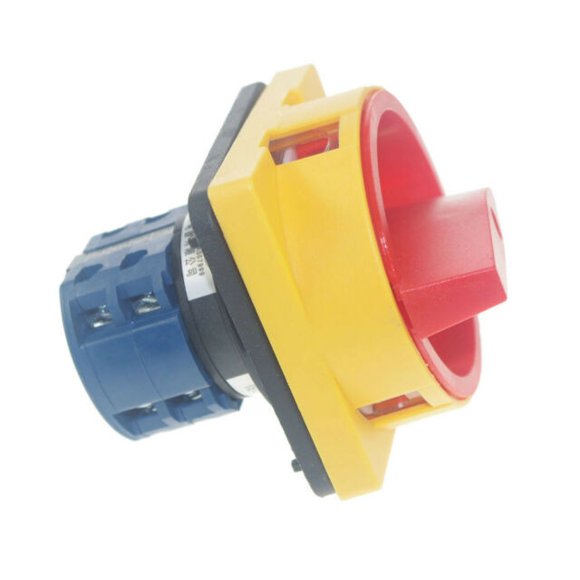 """(1)48*48mm Cam Changeover Switch 20A 0-1 """"OFF""""-""""ON"""" Pad-lock type Rotary Switch"""