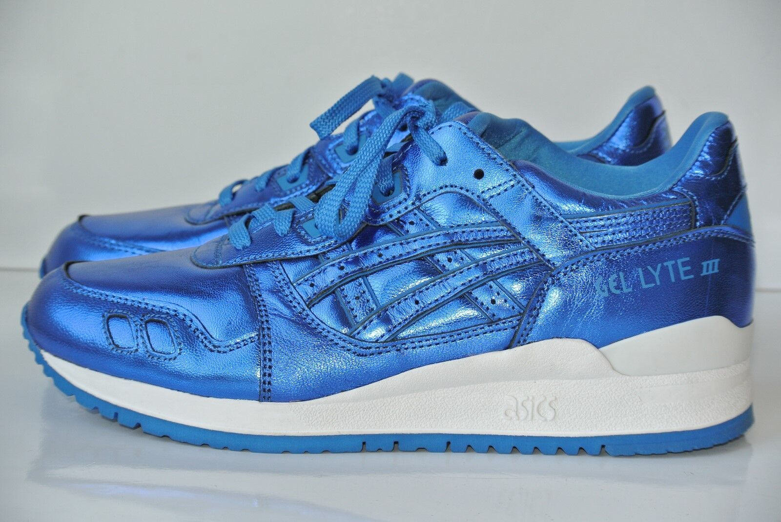 NEW ASICS Gel Lyte Womens Sz 7.5 Kith Atmos Blue Metallic Running Shoes H6E5L best-selling model of the brand