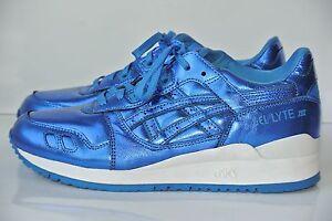 f4e8c411ec NEW ASICS Gel Lyte Womens Sz 7.5 Kith Atmos Blue Metallic Running ...