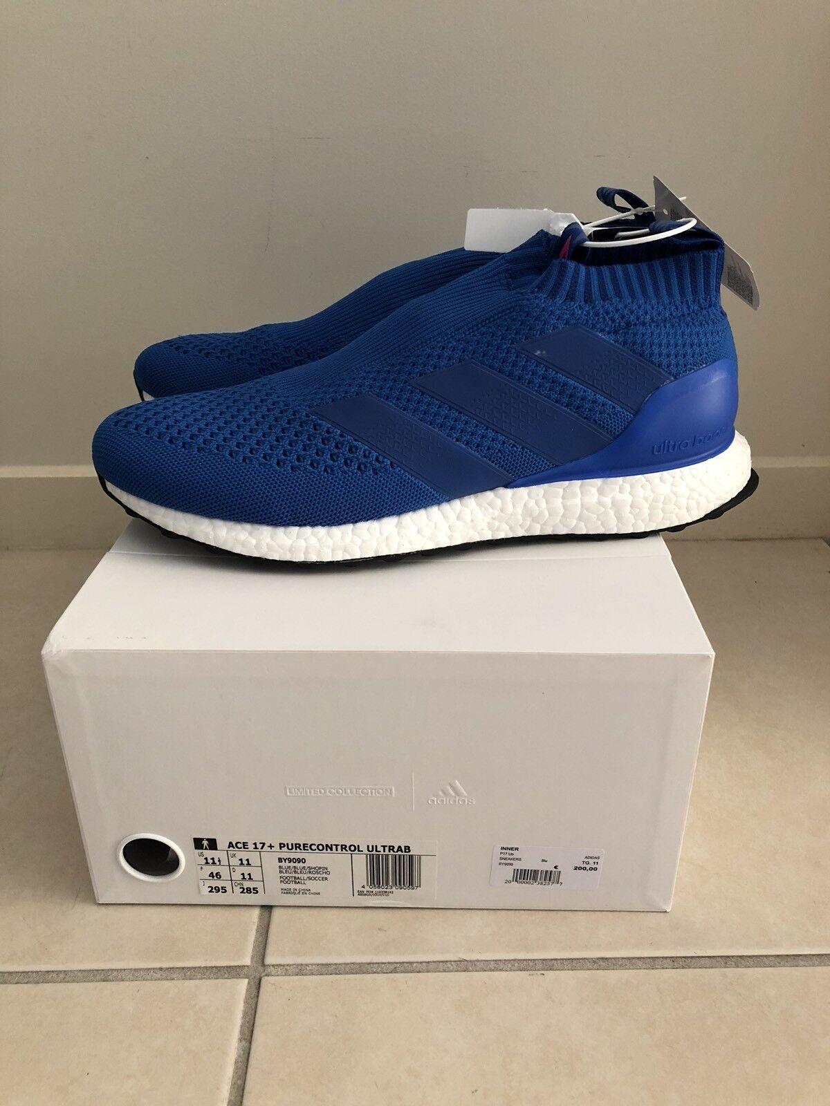 Adidas Ace 16 + 17+ Purecontrol US11.5 UK11 EU46 Ultra boost bluee pure control