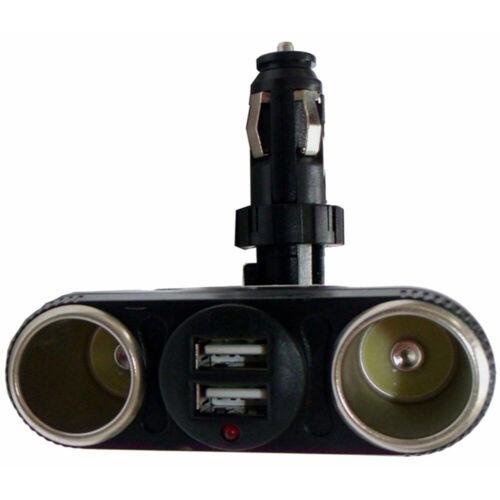 2 USB Verteiler Stecker KFZ 12V 24V Zigarettenanzünder Buchse Y 2er Weiche