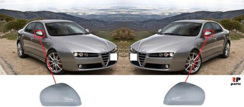 Para Alfa Romeo 159 05-12 Cubierta Del Espejo De Ala Nuevo conjunto de par de Tapa imprimado L/&R