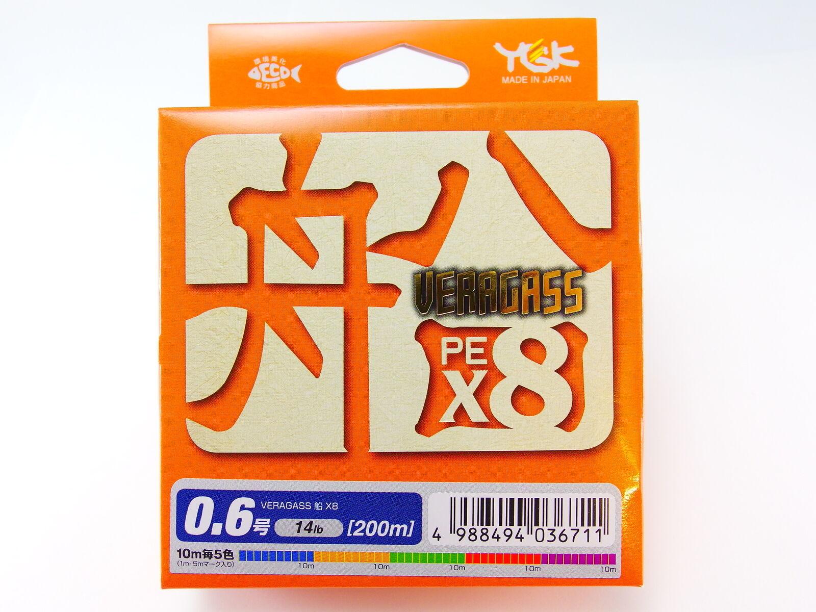 YGK - VARAGASS FUNE (BOAT) PE X8 Hi-Quality WX Dyneema 200m  0.6 14lb  | Zuverlässige Qualität