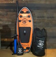Titos Vodka Inflatable Wakeboard Surfboard Kit Paddle Wake Surf 5 Ft Promotional