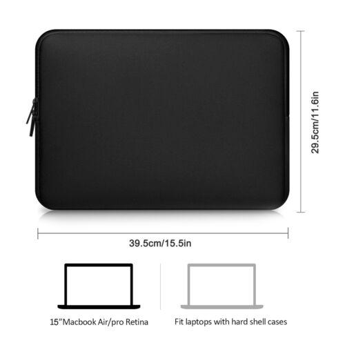 "Neoprene laptop notebook case Women Men sleeve Computer Pocket 12/"" 13/"" 15/""15.6/"""