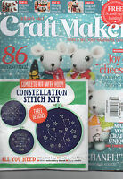 Craftmaker Magazine Christmas 2015 Crochet Etc W/ Bonus Crosstitch Kit