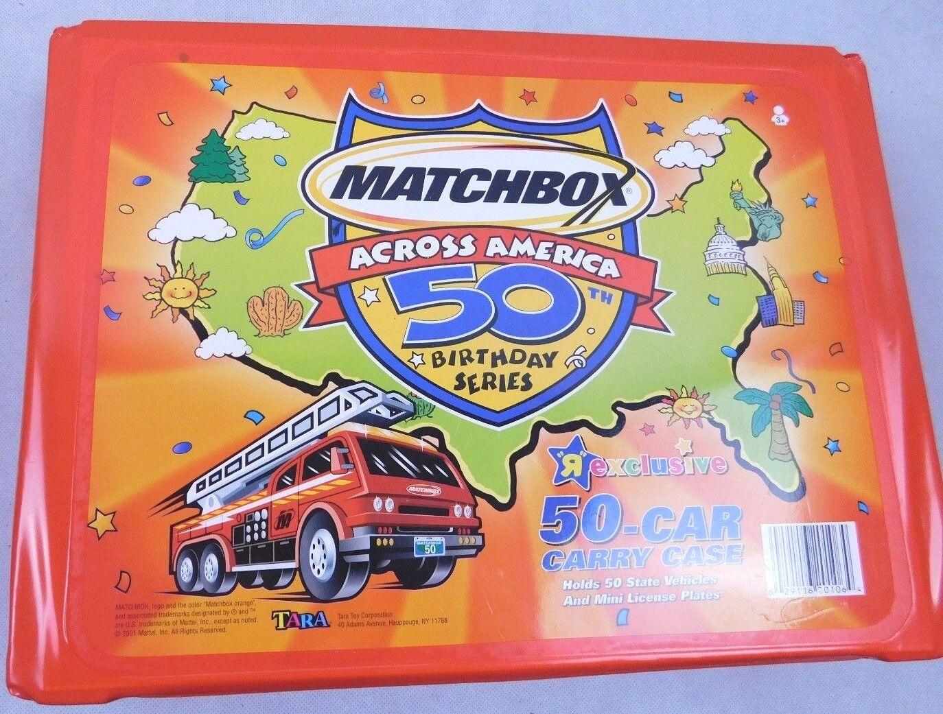 Matchbox Across  America 50th Birthday Series voiture voiturery Case With 50 voitures  vente discount en ligne