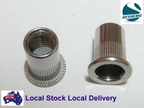 Qty 500 M8 Large Flange Nutserts 304 Stainless Steel Rivet Nut Nutsert Rivnut