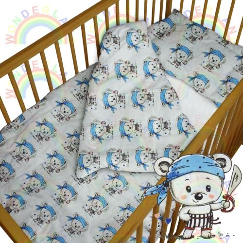 baby BEDDING set crib cot mouse pirate DUVET bumper MOSES BASKET sheet BOY