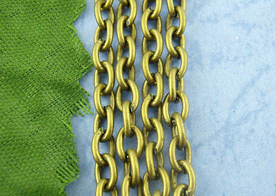 5M Bronze Tone Cable Chains Findings 3x4mm