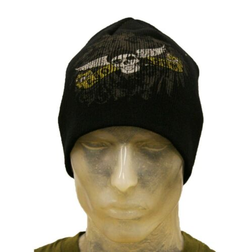 Womens Mens Ego Sum Skull Wing Badges Printed Hat Winter Outdoor Jungle Beanie