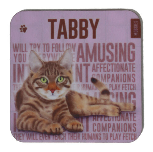Tabby Cat Themed Design Melamine Drinks Coaster Perfect Gift