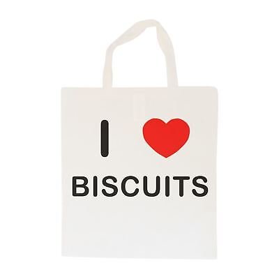 I Love Biscuits - Cotton Bag | Size choice Tote, Shopper or Sling