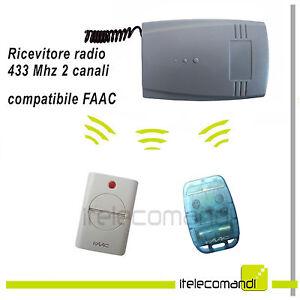Ricevente Radio Ricevitore 433 Mhz 2 Canali Compatibile Faac Te433 E Xt4 433 Rc Style à La Mode;