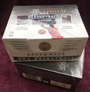 Lot of 2 1992-1993 Upper Deck Basketball European High Series Factory Sealed Box