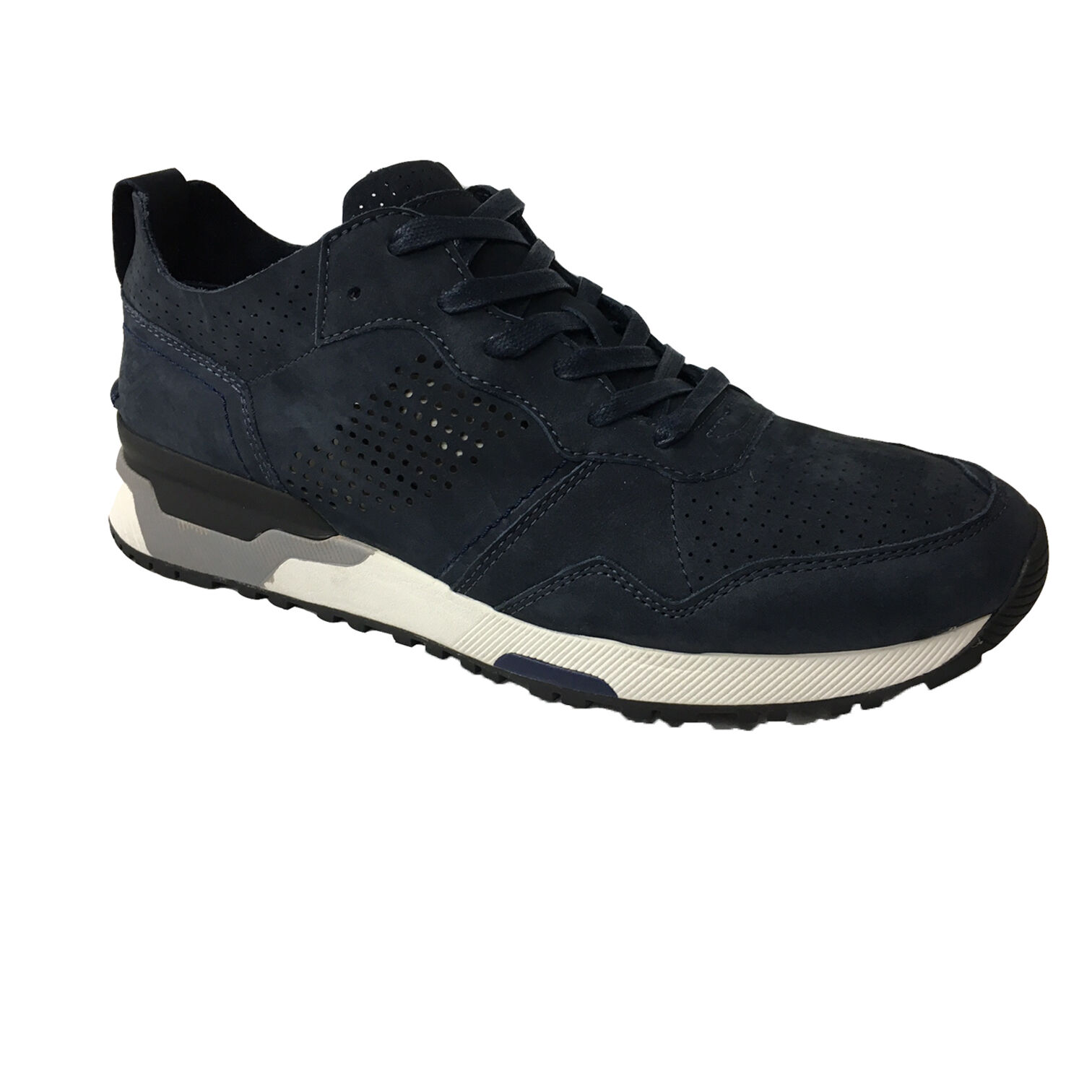 CRIME LONDON 11524S17B scarpa uomo blu sfoderata mod 11524S17B LONDON 100% pelle scamosciata 2c8aa8