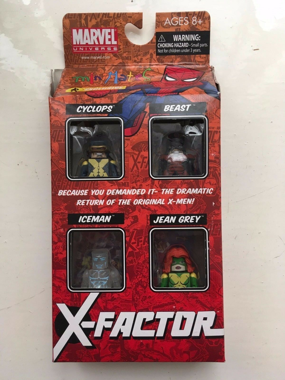 MINIMATES MARVEL CYCLOPS BEAST ICEMAN & JEAN GREY X-FACTOR ACTION FIGURES SET