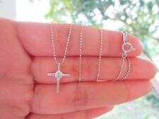 .20 Carat Diamond Cross Pendant PT900 Chain PT850 Necklace sepvergara