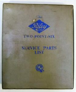 RILEY-TWO-POINT-SIX-Car-Parts-List-Jul-1958-AKD767-Fourth-Edition
