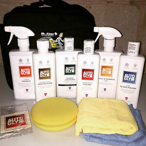autoglym bodywork wheels interior complete valeting collection kit grey bag ebay. Black Bedroom Furniture Sets. Home Design Ideas