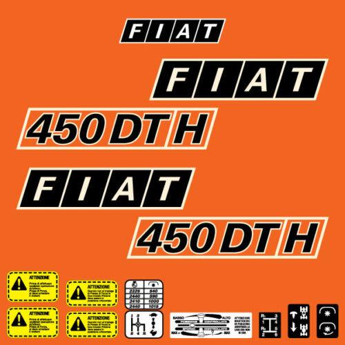 Fiat 450 DT H tractor decal aufkleber adesivo sticker set