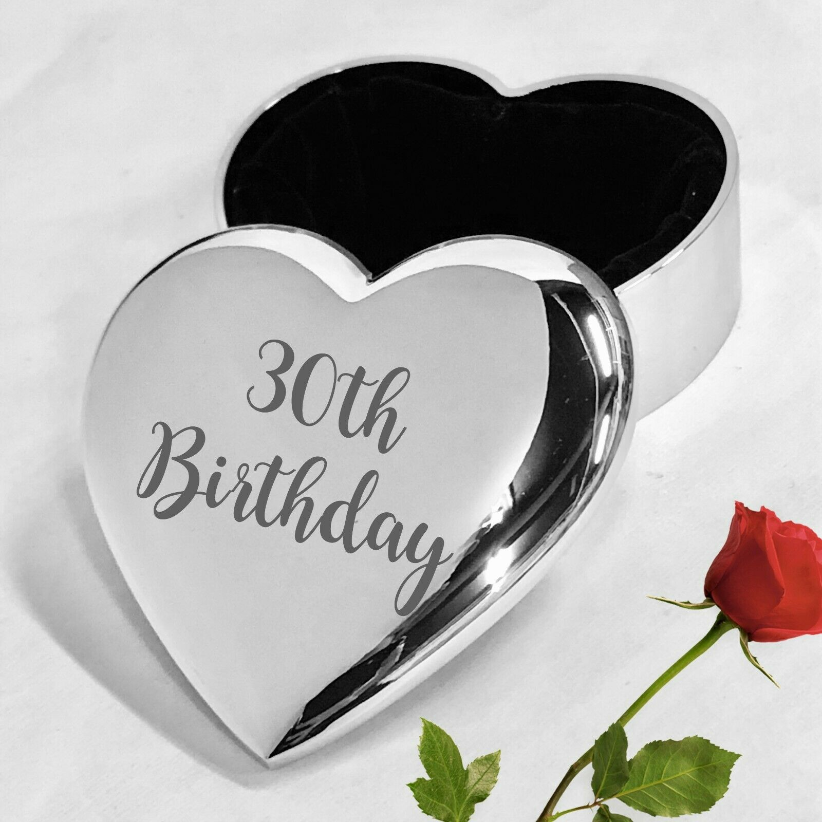 Personalised 21st 18th 30th 40th Birthday Heart Trinket Ring Dish Jewellery Gift