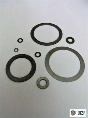 Paßscheiben DIN 988 von 6 bis 120mm Durchmesser Stahl blank 10 Stück