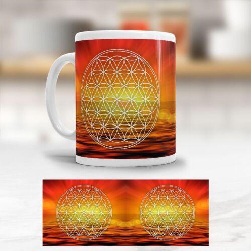 "Becher Kaffeetasse Tasse /""Blume des Lebens/"" Flower of Life Lebensblume"