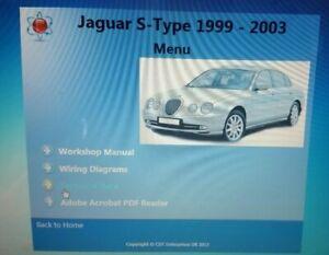 Jaguar-S-type-1999-2003-CD-DVD-Workshop-Service-amp-Repair-Manual