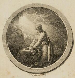 Chodowiecki (1726-1801). Cristo in preghiera; pressione grafico