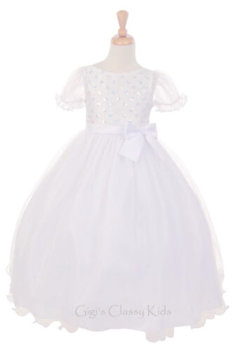 New Flower Girls Dress First Holy Communion Wedding Pageant Easter Formal 2085