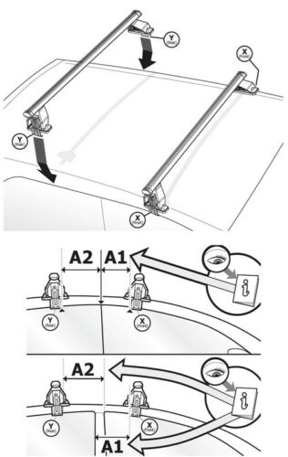 Coffre de toit vdpba 320 L carbonlook Acier Galerie Tema Mazda cx-5 SUV//SW 5tür 12-15