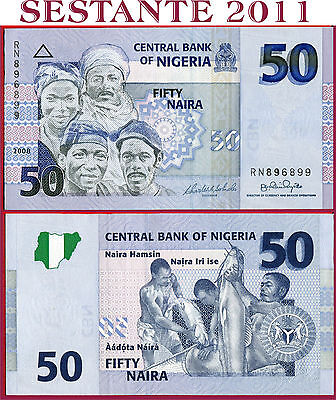 (com) Nigeria 50 Naira 2008 - P 35c Extremely Scarce - Banknote Uncirculated Unc Be Shrewd In Money Matters