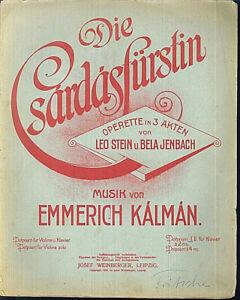Emmerich-Kalman-034-Die-Csardasfuerstin-034-Potpourri-I-alt-uebergross