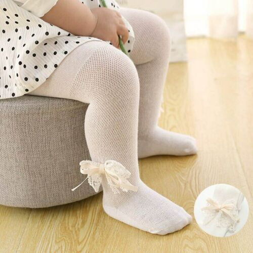 Lace Bows Baby Girl Tights Mesh Newborn Tight Toddler Infant Stockings Pantyhose