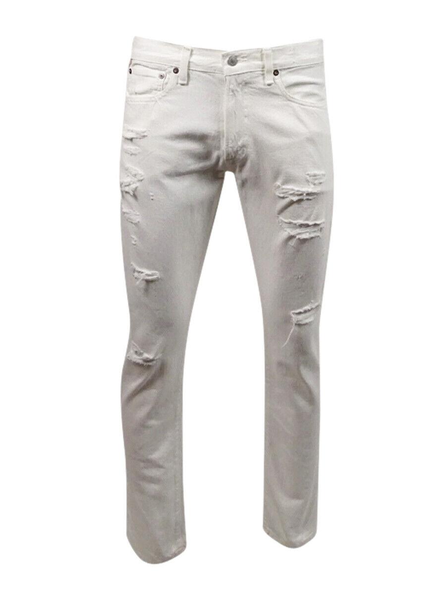 Denim & Supply Men's Distressed Jeans 34x32, White
