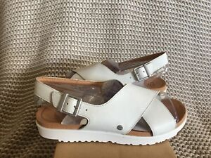 8ff1d1c38f2 Details about UGG KAMILE SLINGBACK SANDAL WHITE LEATHER -WOMEN'S US SIZE  8.5 -NEW