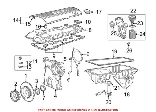 For BMW Genuine Engine Timing Cover 11141703666