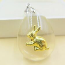 Hot Sale 24K Yellow Gold Man-made Crystal Best Gift Beautiful Tiger Pendant