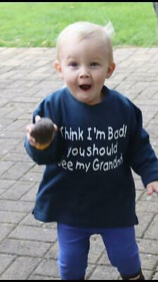 """CHILDS T SHIRT /""""THATS IT I AM OFF TO NANNY/'S/"""""""