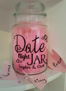 Personalised Sticker Label For Empty Jar Date Night Boyfriend Husband Diy Gift Ebay