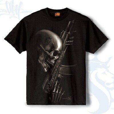 OG ABEL CLOTHING DEATHWISH URBAN SKULL GUN INK TATTOO MENS BLACK TEE SHIRT S-4XL