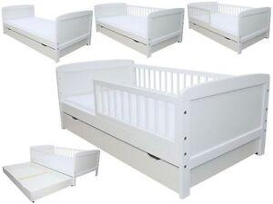 kinderbett juniorbett 160 x 70 cm incl schaumstoffmatratze schublade weiss ebay. Black Bedroom Furniture Sets. Home Design Ideas