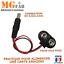 Câble pour pile 9V PP3 6LR61 avec alimentation 2.1x5.5mm 10cmArduino UNO MEGA