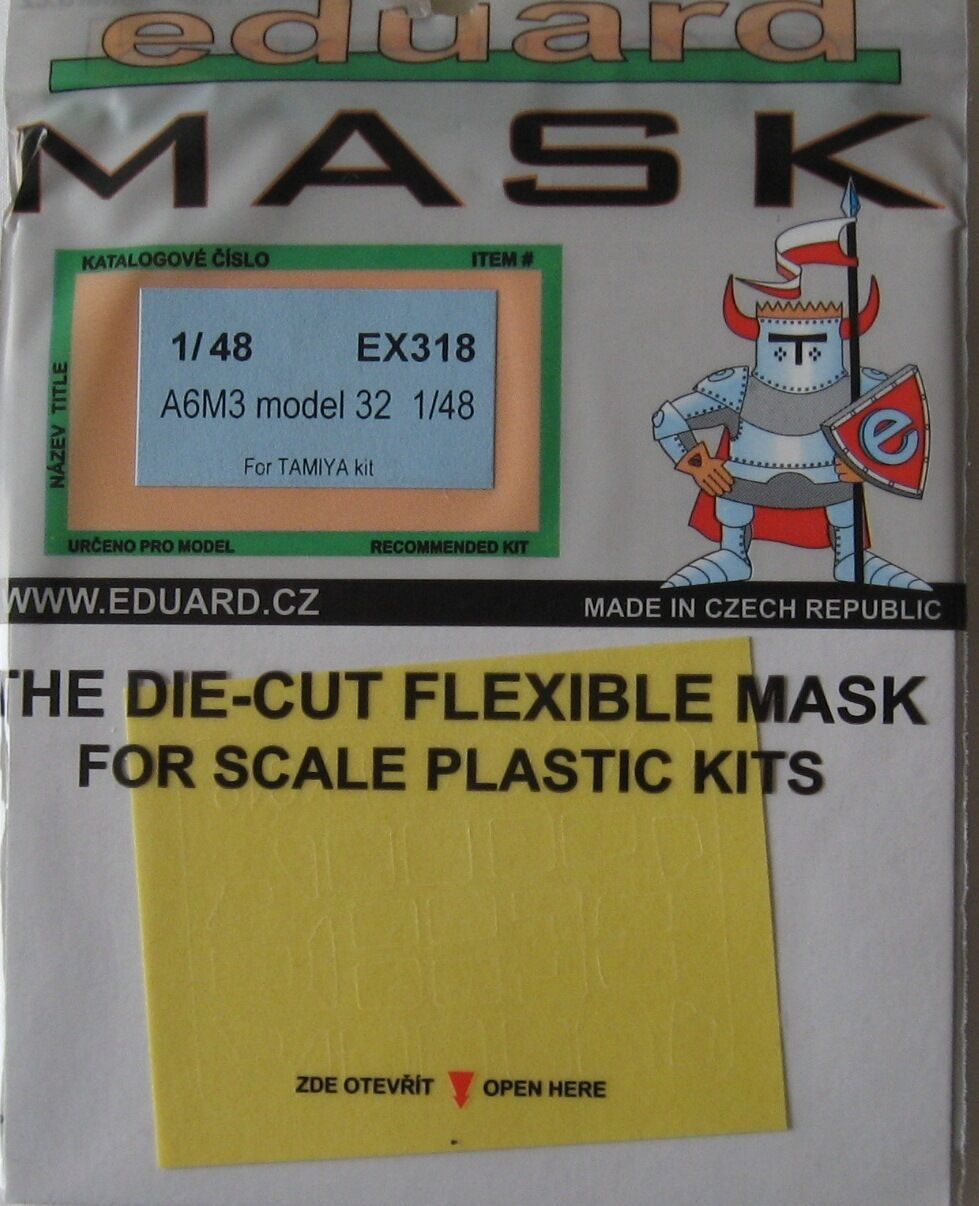 Eduard 1//48 EX318 Canopy Mask for the Tamiya A6M3 Zero